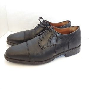 Johnson & Murphy leather cap toe oxfords